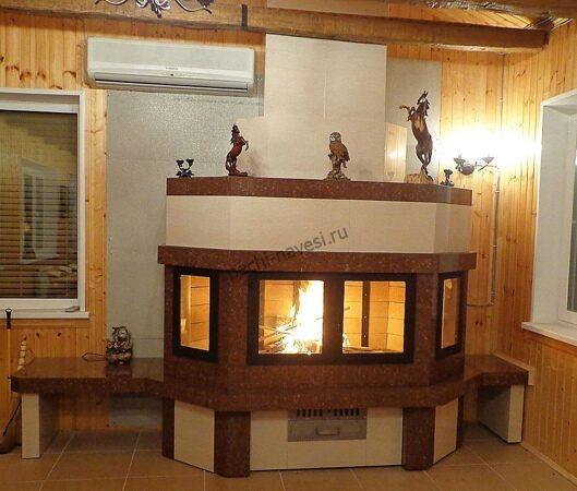 уличный дровяной камин для дома